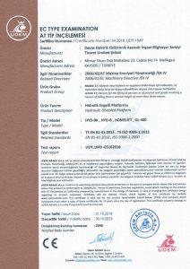 CE Hydraulic Sertifika
