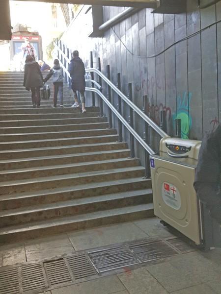 doru eğimli merdiven asansörü