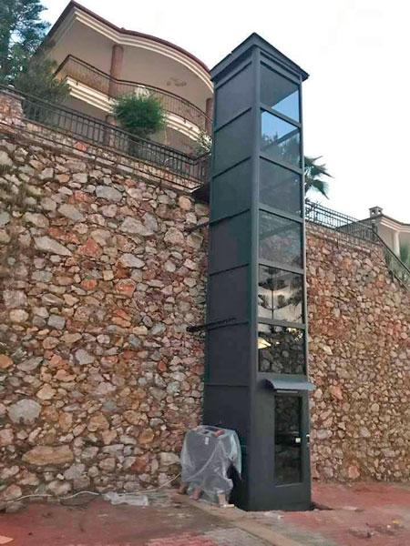 kabinli dış mekan villa asansörü
