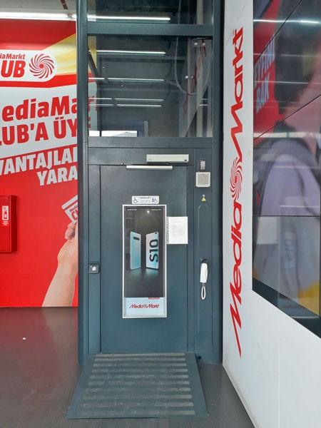 kapalı tip dikey kaldırma platform asansör çözümleri