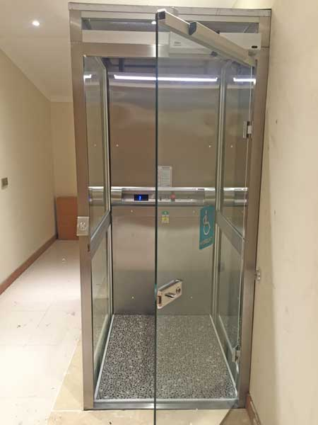 panoramik ev içi asansör