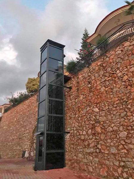 dış mekan hidrolik yaşlı asansörü