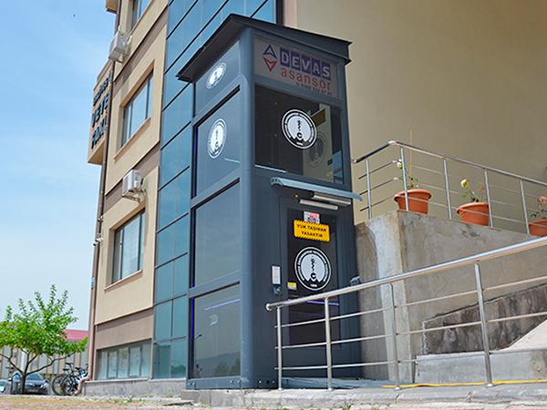 kuyusuz hidrolik engelli asansörü