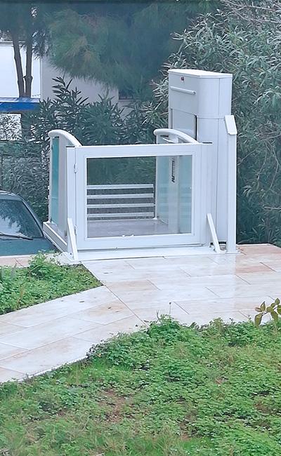 açık tip engelli platform asansör