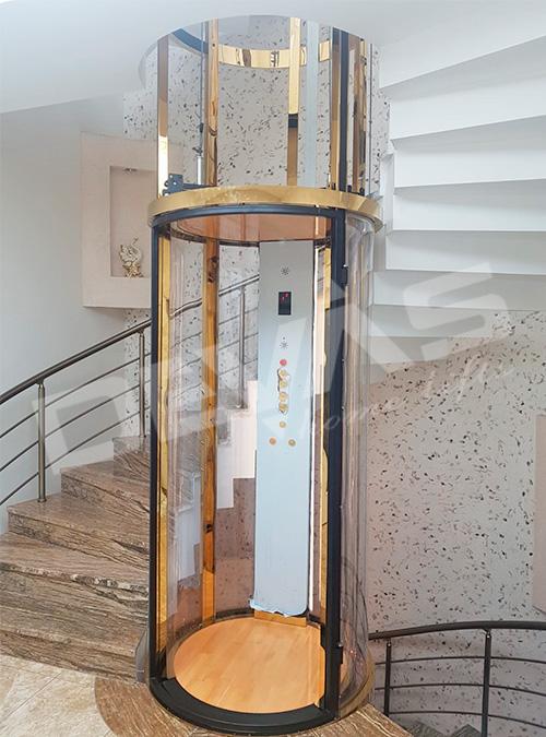 tube ev asansörü
